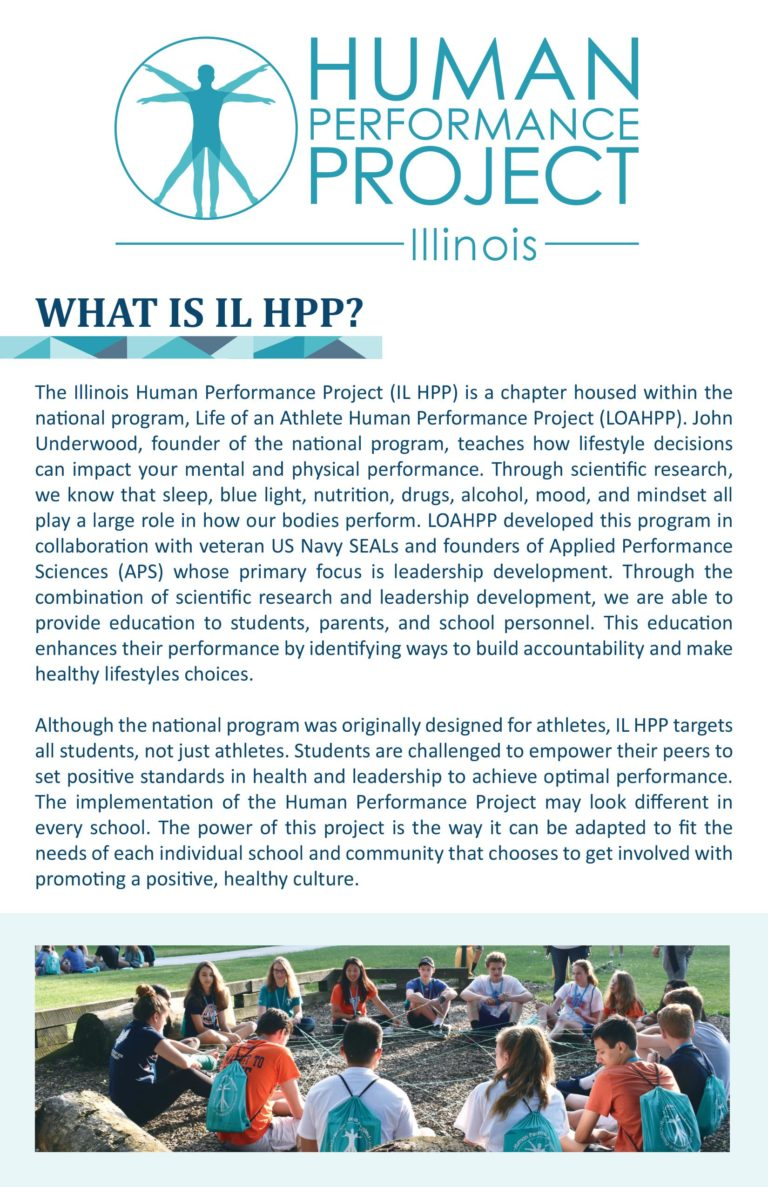 what is ilhpp, illinois human performance project, life of an athlete