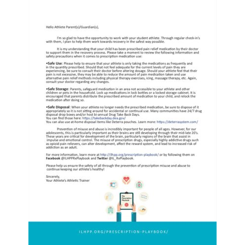 Athletic Trainer Parent Letter