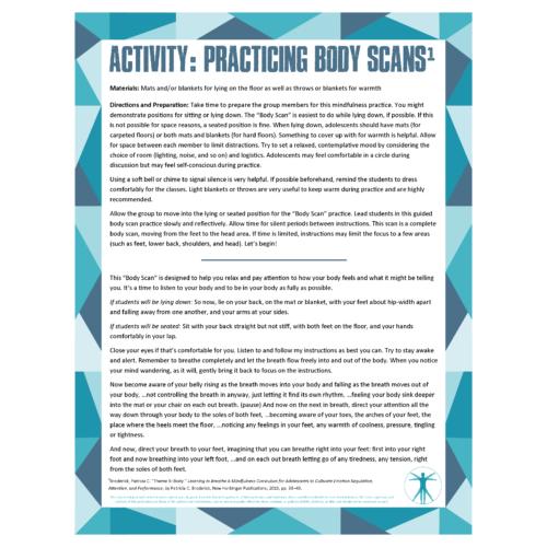 Body Scan Activity