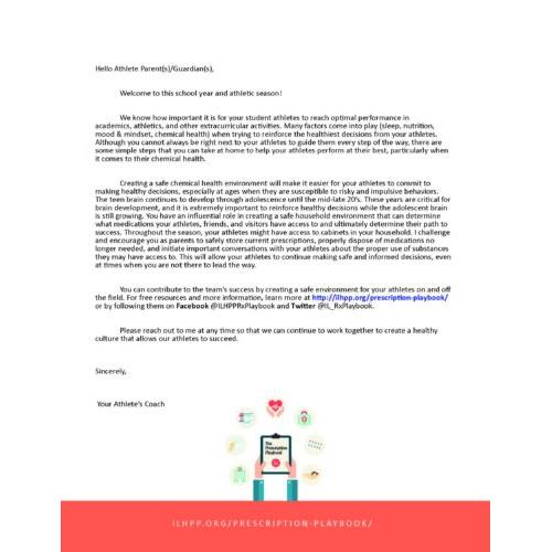 Coach to Parent Letter