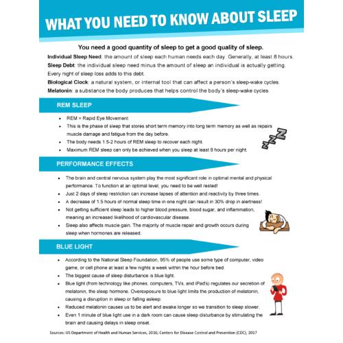 Sleep Handout